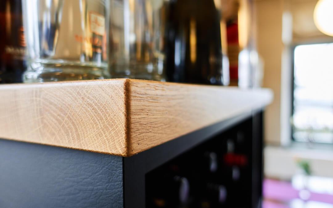 Weinschrank | Eiche – Leder