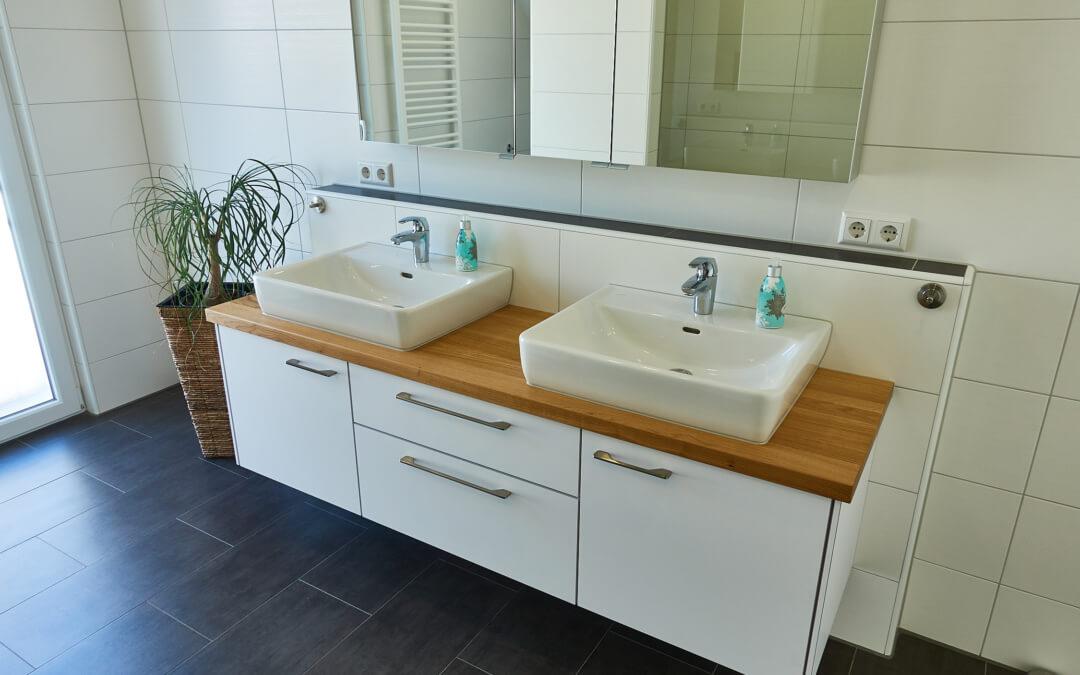 Badezimmer | Eiche – weiß matt